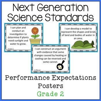 NGSS Grade 2 Performance Expectations Posters