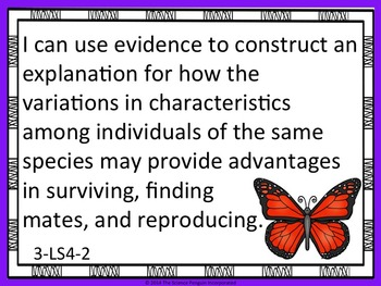 NGSS Grade 3 Performance Expectations Posters