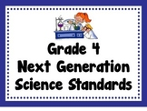 "Grade 4 NGSS Posters and ""I Can"" sheets"