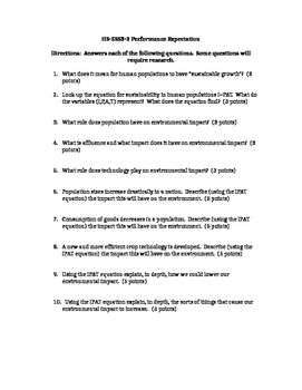 NGSS HS-ESS3-3 Worksheet