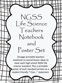 NGSS: High School Life Science Teachers Notebook and Poster Set