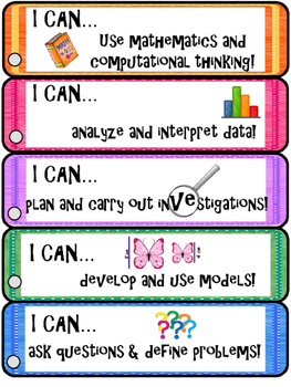"NGSS ""I Can...."" BOOKMARKS"