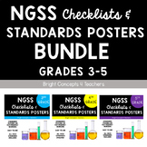 "NGSS ""I Can"" Standards Posters + Checklists BUNDLE: Grades 3-5"