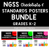 "NGSS ""I Can"" Standards Posters + Checklists BUNDLE: Grades K-2"