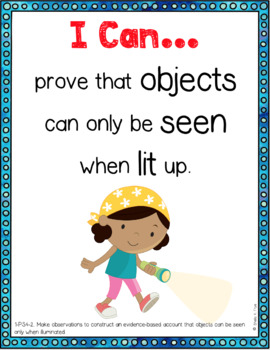 Next Generation Science Standards Grade 1 I Can Statement Posters