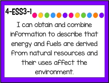 NGSS I Can Statements