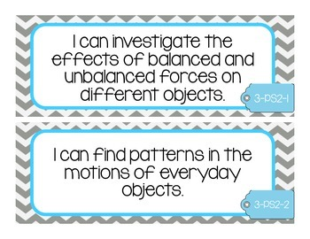 NGSS I Can Statements 3rd Grade