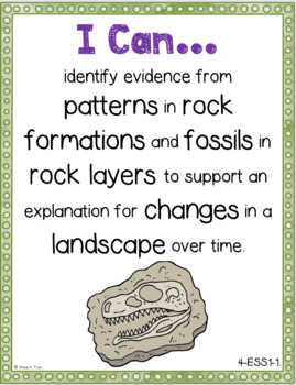 NGSS I Can Statements - 4th Grade - Color & Black/White - Illustrated - NO PREP!