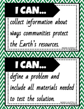 NGSS I Can Statements for 5th Grade