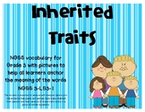 NGSS Inherited Traits and Variation vocabulary cards