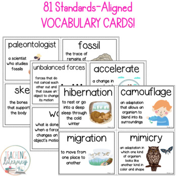 NGSS & Inspire Science Vocabulary & Word Wall Cards - 3rd Grade