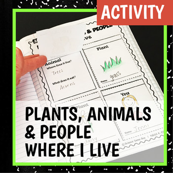 NGSS K-ESS3-1 Activity & Interactive Notebook Pages