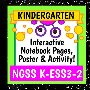 NGSS K-ESS3-2 Activity & Interactive Notebook Pages