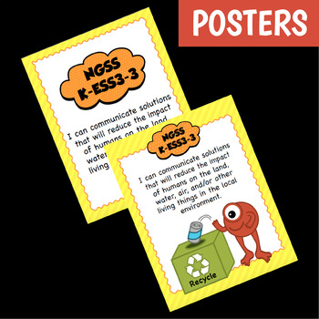 NGSS K-ESS3-3 Activity & Interactive Notebook Pages