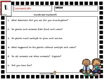 NGSS K-LS1-1 Interdependent Relationships in Ecosystems:  Plants & Animals Needs