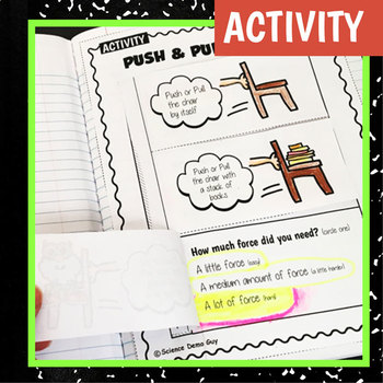 NGSS K-PS2-1 Activity & Interactive Notebook Pages