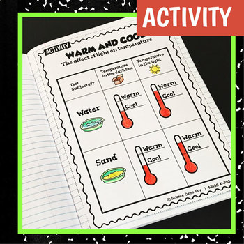 NGSS K-PS3-1 Activity & Interactive Notebook Pages