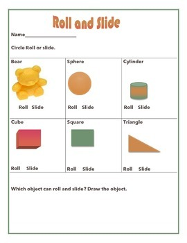 NGSS Kindergarten Forces: Roll and Slide Lesson and Song