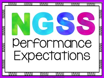 NGSS Kindergarten Performance Expectations Posters