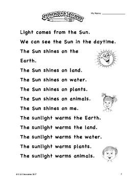 NGSS Kindergarten Sun Study Bundle