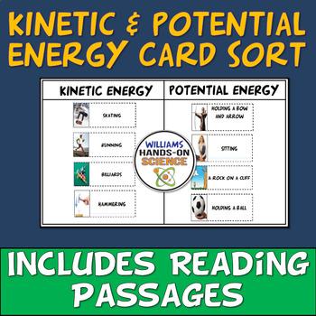 MS-PS3-5: NGSS Kinetic Potential Energy Card Sort Energy Worksheet ...