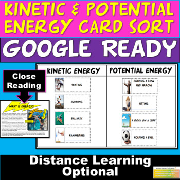 MS-PS3-5: NGSS Kinetic Potential Energy Card Sort Energy Worksheet ...