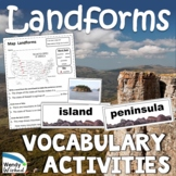 Landforms Vocabulary and The Shapes & Kinds of Land on Earth Next Gen Science