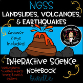 NGSS Landslides, Earthquakes, & Volcanoes Interactive Science Notebook BUNDLE