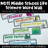 NGSS Life Science Ecosystems Word Wall, Objectives and Unit Binder Cover