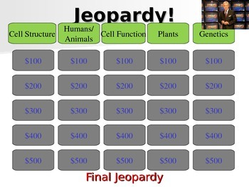 NGSS Cells and Genetics Jeopardy