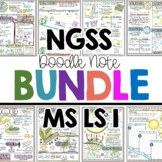 NGSS Life Science Vocabulary Doodle Notes MS LS1
