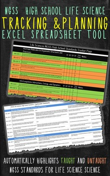 NGSS Life Sciences Planning and Tracking Excel Tool
