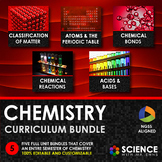 NGSS Middle School Chemistry Curriculum - Full Course Bundle