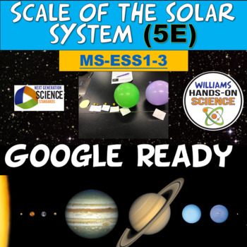 NGSS MS-ESS1-3 ESS1 B Scale, Proportion & Quantity of the Solar System  Models