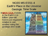 NGSS MS-ESS1-4 Earth's Place-Geologic Time Scale