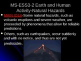 NGSS MS-ESS3-2 Natural Hazards PowerPoint