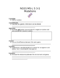 NGSS MS-L S 3-1 Heredity-Mutations Worksheet