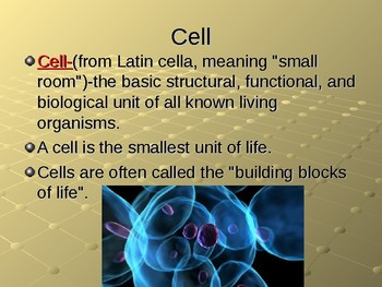 NGSS MS-LS 1-2 Function and Parts of a Cell