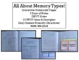 NGSS MS-LS1-8 Memory Type Interactive Notes