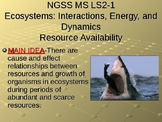 NGSS MS-LS2-1 Ecosystems: Interactions, Energy, and Dynamics-Resource PowerPoint