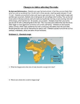 NGSS MS-LS2-4 Evidence Packet for How Changes in Ecosystems Affect Populations