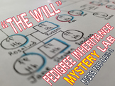 """NGSS """"The Will"""" Pedigree Inheritance Mystery Lab MS-LS3-1"""