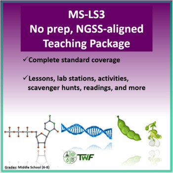 NGSS - MS LS3 Heredity - Complete Resource Package