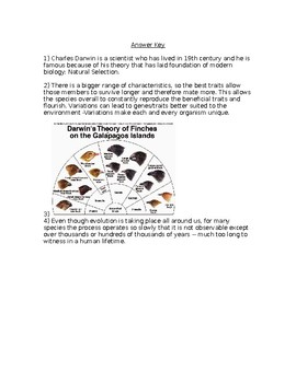 NGSS MS-LS4-4 Biological Evolution-Natural Selection and Adaptation