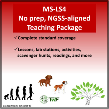 NGSS - MS LS4 Biological Evolution - Complete Resource Package