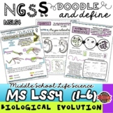 NGSS MS-LS4 Biological Evolution Doodle Notes