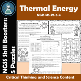 NGSS MS-PS-3-4 and MS-PS-1-4 Skill Boosters:  Thermal Ener