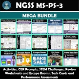 NGSS MS-PS-3 Energy Labs, CER, Performance Assessment, and Review Bundle