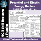 Potential and Kinetic Energy Review NGSS MS-PS-3-1 and MS-PS-3-2 Skill Boosters
