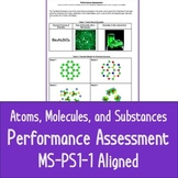 NGSS MS-PS1-1 Atoms, Molecules, and Substances Performance Assessment